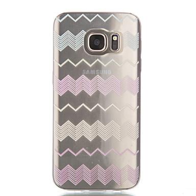 Kılıf Na Samsung Galaxy Samsung Galaxy S7 Edge Przezroczyste Wzór Czarne etui Linie / fale Miękkie TPU na S7 edge S7 S6 edge S6 S5