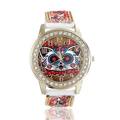 Damskie Kwarcowy Zegarek na nadgarstek / sztuczna Diament Skóra Pasmo Kwiat Sowa Modny Czerwony