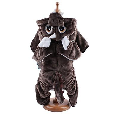 강아지 코스츔 점프 수트 강아지 의류 코르덴 모든계절/가을 겨울 귀여운 코스프레 애니멀 그레이 커피 애완 동물