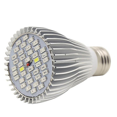 E27는 22red12blue2white2ir2uv 전체 스펙트럼 주도 식물 정원 꽃을위한 램프를 성장 40led (AC85-265V)