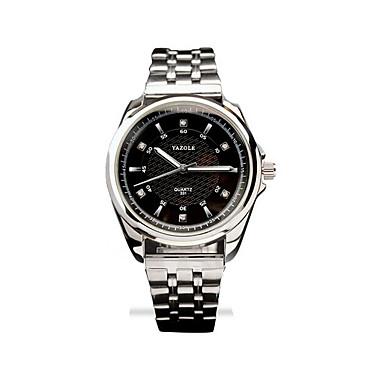 남성 드레스 시계 패션 시계 손목 시계 석영 야광 스테인레스 스틸 밴드 캐쥬얼 실버