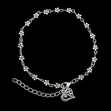 Pentru femei Brățări cu Lanț & Legături Brățări Bantă - Floare Personalizat, Modă Brățări Argintiu Pentru Cadouri de Crăciun Petrecere Zilnic