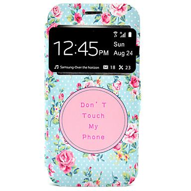 Mert Samsung Galaxy S7 Edge Kártyatartó / Állvánnyal Case Teljes védelem Case Virág Kemény Műbőr Samsung S7 edge / S7
