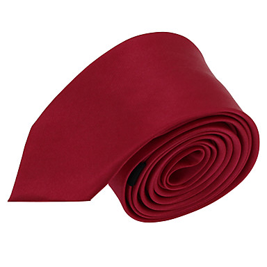 baratos Acessórios Masculinos-Masculino Gravata Vermelho,Vintage / Festa / Trabalho / Casual Cor Única Poliéster Todas as Estações