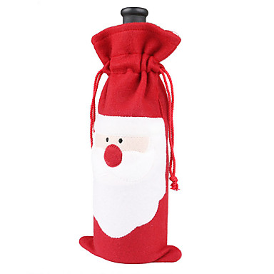 3szt 2016 nowy gorący Święty Mikołaj Boże Narodzenie butelka wina prezent prezent zestawy dekoracji