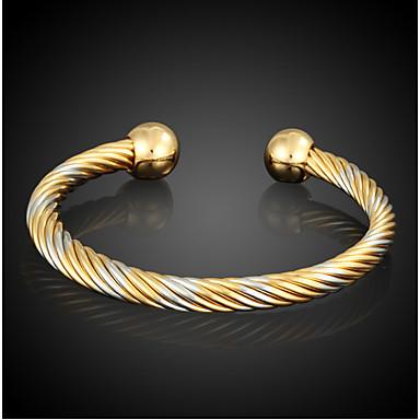 Férfi Női Bilincs karkötők Divat Arannyal bevont Circle Shape Ékszerek Kompatibilitás Napi Hétköznapi Karácsonyi ajándékok