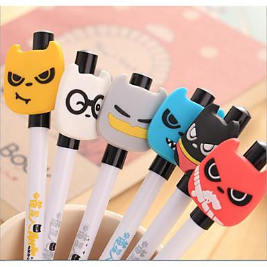 Gel Pen Toll Gél tollak Toll,Műanyag Hordó Fekete Ink Colors For Iskolai felszerelés Irodaszerek Csomag PEN