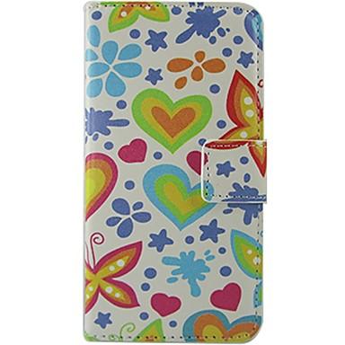 용 노키아 케이스 지갑 / 카드 홀더 / 플립 / 패턴 케이스 풀 바디 케이스 심장 하드 인조 가죽 Nokia Nokia Lumia 630 / Nokia Lumia 625