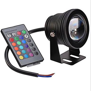 10W 480 lm Festoon Oświetlenie podwodne Do zabudowy 1 Diody lED LED zintegrowany Przysłonięcia Dekoracyjna Zdalnie sterowana RGB AC 12V