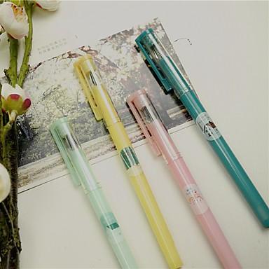 Gel Pen Toll Gél tollak Toll,Műanyag Hordó Fekete Ink Colors For Iskolai felszerelés Irodaszerek Csomag