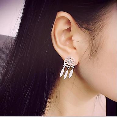여성용 드랍 귀걸이 - 골드 실버 라운드 귀걸이 제품 일상 캐쥬얼