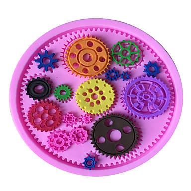 süteményformákba Jég Csokoládé Pizza Palacsinta Cupcake Keksz Torta Kenyér Szilikon Környezetbarát DIY Jó minőség 3D Sütés eszköz Nem