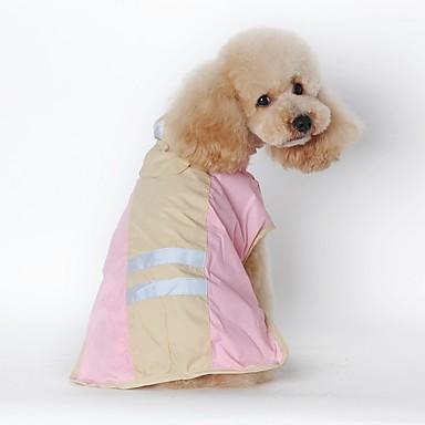 Cica Kutya Esőkabát Kutyaruházat Egyszínű Kék Rózsaszín Terylene Jelmez Háziállatok számára Férfi Női Vízálló
