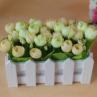 2 분기 폴리에스터 장미 테이블  플라워 인공 꽃