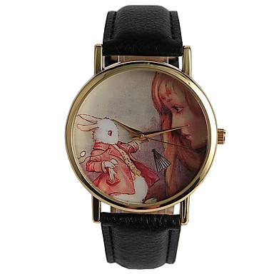 Damskie Kwarcowy Zegarek na nadgarstek / Gorąca wyprzedaż PU Pasmo Na co dzień Modny Czarny