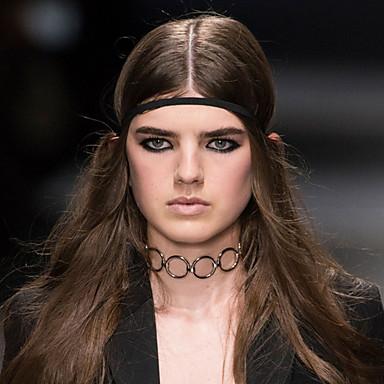 billige Mode Halskæde-Dame Kort halskæde Tatovering Choker Personaliseret Tatovering Tassel Europæisk Sølv Gylden Halskæder Smykker Til Fest Daglig Afslappet