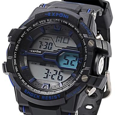 남성 스포츠 시계 밀리터리 시계 패션 시계 손목 시계 디지털 LED LCD 달력 크로노그래프 방수 야광의 스톱워치 야광 충격 방지 실리콘 밴드 위장 멋진 캐쥬얼 블랙 화이트 블루 레드