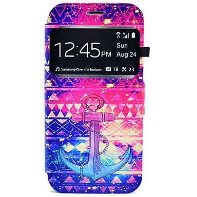 Kılıf Na Samsung Galaxy Samsung Galaxy S7 Edge Etui na karty Z podpórką Pełne etui Kotwica Twarde Skóra PU na S7 edge S7