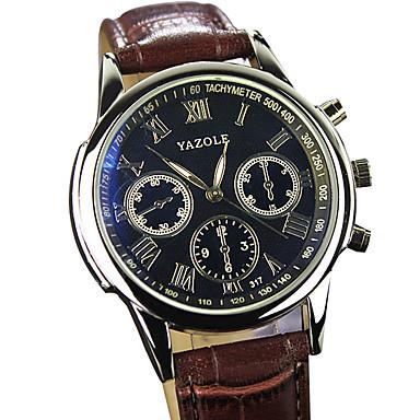 YAZOLE Męskie Kwarcowy Zegarek na nadgarstek / Gorąca wyprzedaż PU Pasmo Na co dzień Nowoczesne Czarny Brązowy