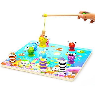 Brinquedos Magnéticos Brinquedos de pesca Peças Brinquedos Clássico Magnética Diversão Peixes 3D Dom