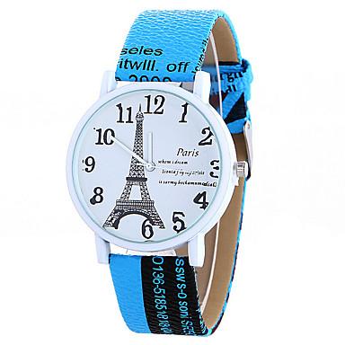 Női Ruha óra Divatos óra Karóra Kvarc / PU Zenekar Eiffel torony Fehér Kék Piros Barna Fehér Kávé Barna Piros Kék