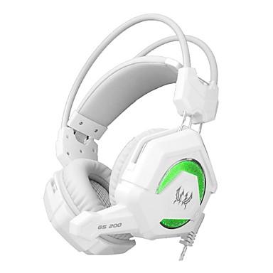 KOTION EACH GS200 A fülön túl Fejpánt Vezetékes Fejhallgatók Dinamikus Játszás Fülhallgató Zajszűrő Mikrofonnal A hangerőszabályzóval