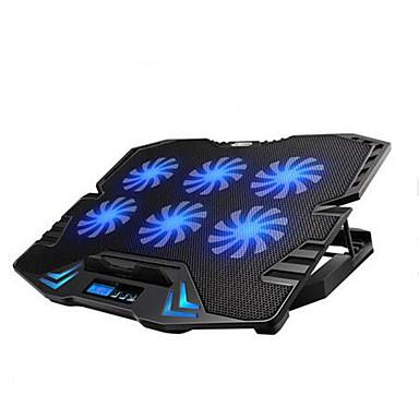 regulowane doprowadziły ekran Smart Control Pad chłodzenie laptopa z 6 wentylatorów