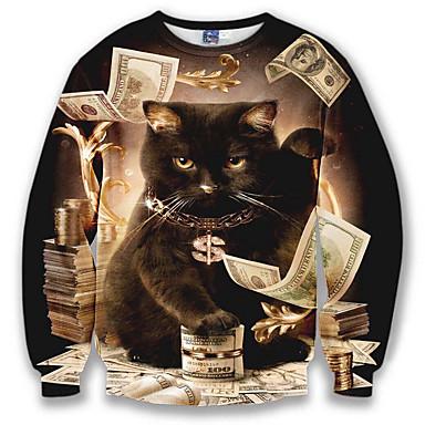 billige Herrers Mode Beklædning-Herre Langærmet Sweatshirt - 3D Print