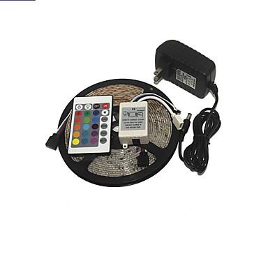 KWB 3528 RGB 스트립 조명이 장식 스타일의 모든 종류의 완벽한 24key IR 원격 제어 전원 공급 장치를 300leds 주도