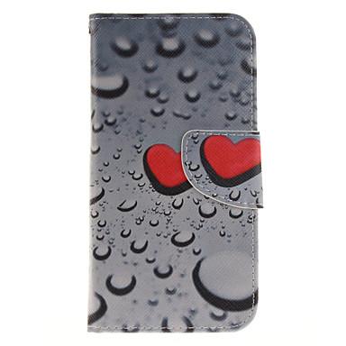 용 삼성 갤럭시 케이스 카드 홀더 / 지갑 / 스탠드 / 플립 / 패턴 케이스 풀 바디 케이스 심장 하드 인조 가죽 Samsung J3 (2016) / J3