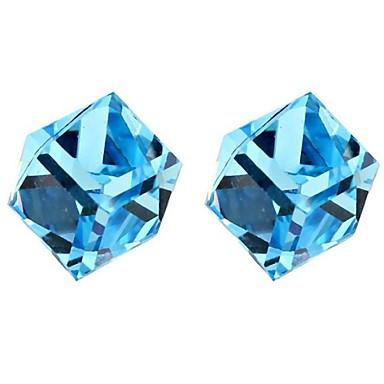 패션 도금 플래티넘 Geometric Shape 퍼플 옐로우 블루 핑크 보석류 용 일상 1 쌍