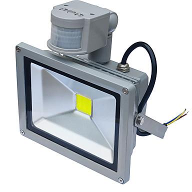 Jiawen wodoodporny 20W 1800lm PIR czujnika ruchu lampy indukcyjnej doprowadziły światła powodzi (ac85-265v)
