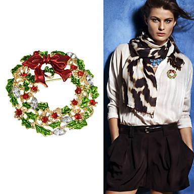 새로운 크리스마스 선물 다채로운 모조 다이아몬드 꽃 브로치