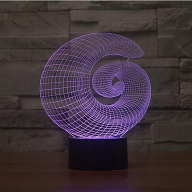 abstrakcyjny dotyk przyciemniający 3d lampka nocna 7 kolorowa dekoracja atmosfera lampa nowość oświetlenie światło