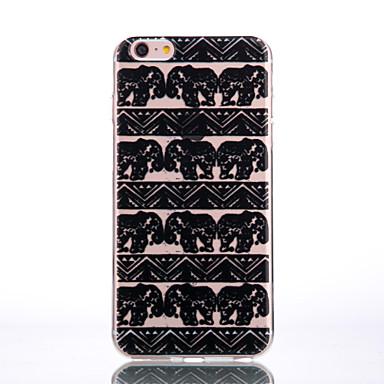 용 아이폰7케이스 / 아이폰7플러스 케이스 / 아이폰6케이스 투명 / 엠보싱 텍스쳐 / 패턴 케이스 뒷면 커버 케이스 코끼리 소프트 TPU Apple아이폰 7 플러스 / 아이폰 (7) / iPhone 6s Plus/6 Plus / iPhone