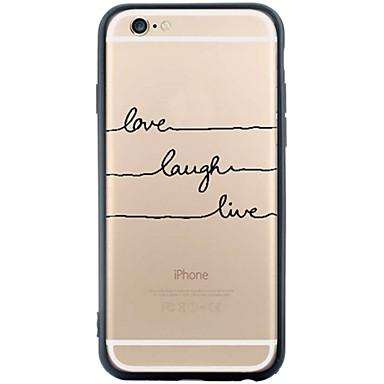 용 아이폰6케이스 / 아이폰6플러스 케이스 방진 / 패턴 케이스 뒷면 커버 케이스 단어 / 문구 소프트 TPU Apple iPhone 6s Plus/6 Plus / iPhone 6s/6 / iPhone SE/5s/5
