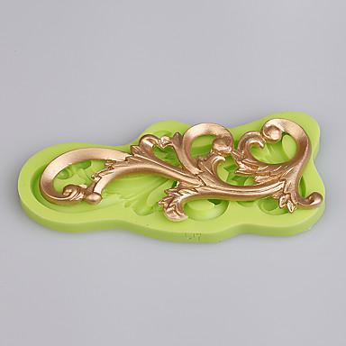 덩굴 모양 금형 레이스 퐁당 매트 실리콘 케이크 금형 stampi 3D 실리콘 케이크 주방 액세서리 색상 무작위