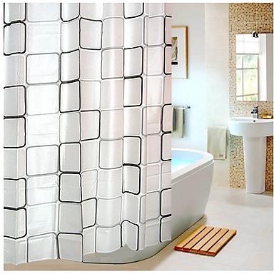 샤워 커튼 우아한 PEVA 체크무늬 기계 제작