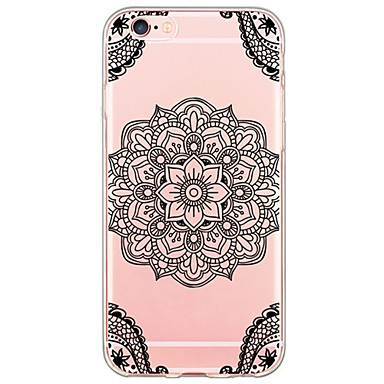 Mert iPhone 6 tok / iPhone 6 Plus tok Ultra-vékeny / Áttetsző Case Hátlap Case Mandala Puha TPU AppleiPhone 6s Plus/6 Plus / iPhone 6s/6