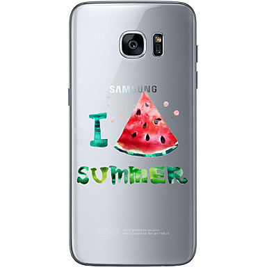 용 Samsung Galaxy S7 Edge 패턴 케이스 뒷면 커버 케이스 과일 소프트 TPU Samsung S7 edge / S7 / S6 edge plus / S6 edge / S6