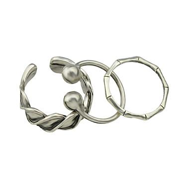 Gyűrűk Divat / Személyiség Parti / Hétköznapi Ékszerek Ötvözet Női Nail ujj gyűrűk 1set,6 Ezüst