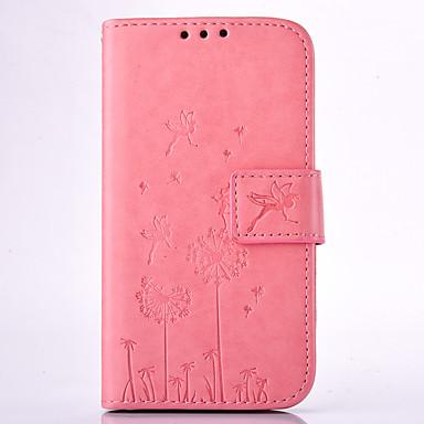 Kılıf Na Samsung Galaxy Samsung Galaxy Etui Etui na karty Portfel Z podpórką Wytłaczany wzór Pełne etui Mniszek lekarski Twarde Skóra PU