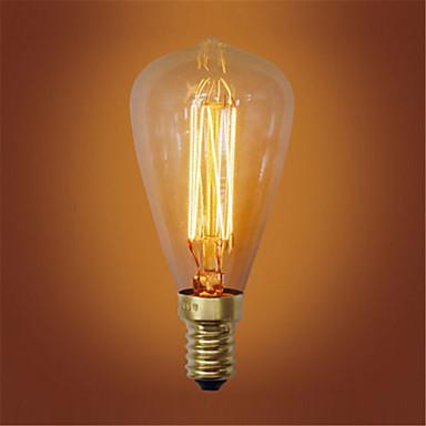 1pc 40W E14 ST48 Warm White 2300k Retro / Dimmable / Decorative Incandescent Vintage Edison Light Bulb 220-240V