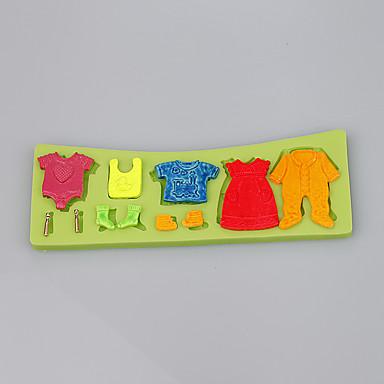 aranyos kis bébi ruhák ruhák fondant torta szilikon penész penész penészgombák dekorációs eszközök ramdon szín