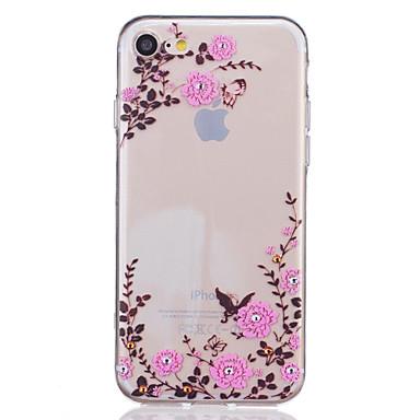 Mert iPhone 7 tok / iPhone 7 Plus tok / iPhone 6 tok Átlátszó / Dombornyomott / Minta Case Hátlap Case Virág Puha TPU AppleiPhone 7 Plus