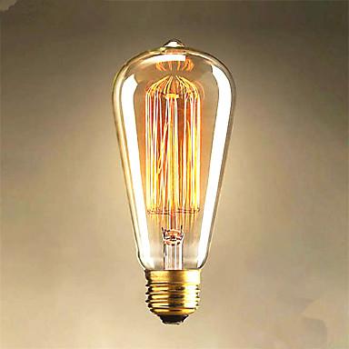 40W Edison st64 egyenes huzal izzók eladó Edison dekoráció fény