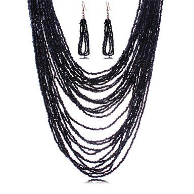 여성 보석 세트 목걸이 / 귀걸이 섹시 패션 유럽의 목걸이 귀걸이 제품 결혼식 파티 일상 캐쥬얼 결혼 선물