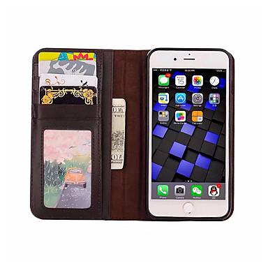케이스 제품 iPhone 7 Apple iPhone 7 Plus iPhone 7 카드 홀더 지갑 스탠드 플립 전체 바디 케이스 한 색상 소프트 PU 가죽 용 iPhone 7
