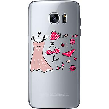 용 Samsung Galaxy S7 Edge 울트라 씬 / 패턴 케이스 뒷면 커버 케이스 섹시 레이디 소프트 TPU Samsung S7 edge / S7 / S6 edge plus / S6 edge / S6