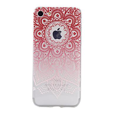 제품 iPhone X iPhone 8 iPhone 7 iPhone 7 Plus iPhone 6 케이스 커버 반투명 엠보싱 텍스쳐 패턴 뒷면 커버 케이스 꽃장식 소프트 TPU 용 Apple iPhone X iPhone 8 Plus iPhone 8